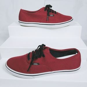 Vans Atwood low canvas Port Red black skate shoes